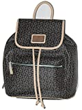 Guess PARKSTREET Natural Brown Tan Signature Print Backpack Shoulder Bag