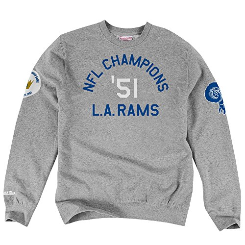 Los Angeles Rams NFL Mitchell & Ness Men's Home Town Champs Crewneck Fleece (Small) (Quinn Cook Jersey)