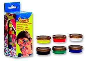 Jovi 441537 - Estuche 6 Tarros Maquillaje Colores