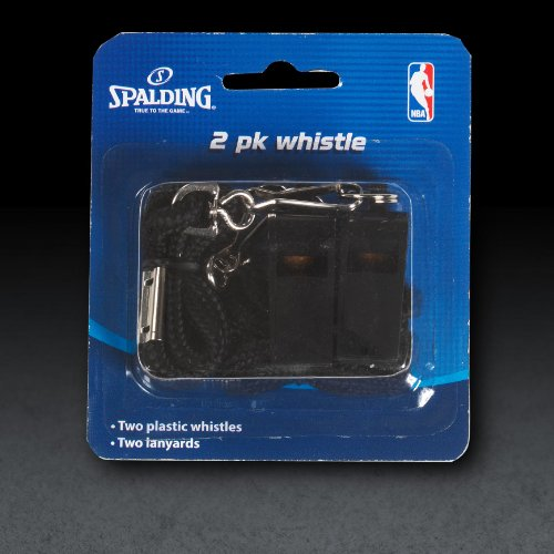 Spalding Whistle (2-Pack) (Basketball Referee Gear)