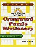 Crossword Puzzle Dictionary, Stephen Elliott, 0375706240