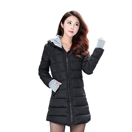 Amazon.com: LXIANGP - Abrigo de invierno para mujer (talla ...