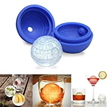 QuiCi DIY Ice Ball Maker Silicone Mold Star Wars Death Star Ice Cube Round Mould Ice Mold Tray