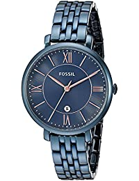 Women's Quartz Stainless Steel Casual Watch, Color:Blue (Model: ES4094)