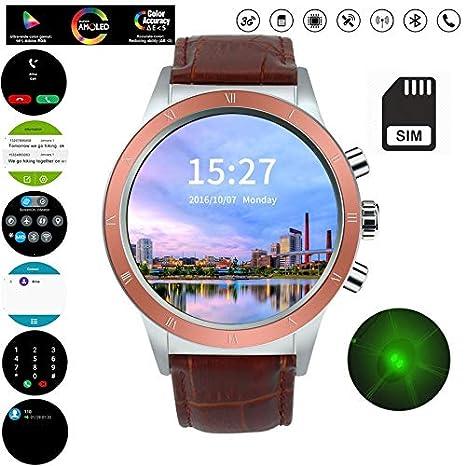 Msxx Smartwatch, Relojes Hombre, WiFi/Bluetooth/GPS/SIM Card ...
