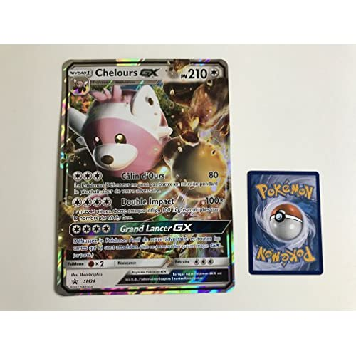 Carte Pokemon CHELOURS GX SM34 - Format Jumbo