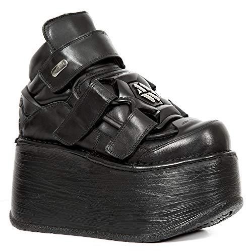 Piel M Cuero New Rock Zapatos Heavy Chica Mujer s4 ep285 Punk Gotico Plataforma Negro Zx1zwq5xfn