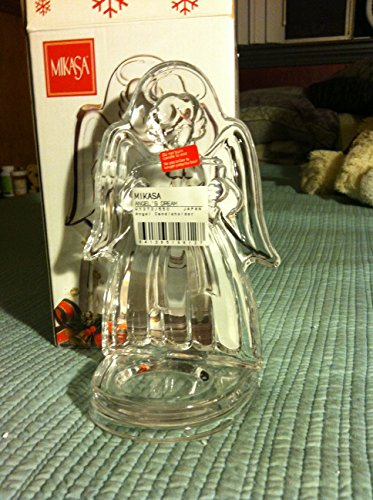 Mikasa Crystal Glass Singing Angel Votive Candle Figurine