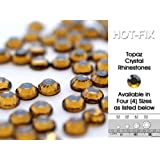 Lana's Magic Diamante HQ Topaz Crystal Hot Fix Rhinestones (SS10 - ø3mm in Diameter) min 80 Pieces, Buy 5 Bags or more in a Single Transaction, Get 1 Bag FREE