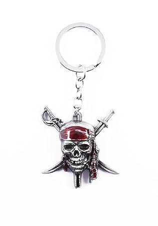 Amazon.com: Llavero de metal llavero de piratas del Caribe ...