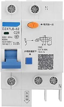Current Circuit Breaker,DZ47LE-32 1P+N C25 Leakage Protection Residual Current Circuit Breaker 230V 25A