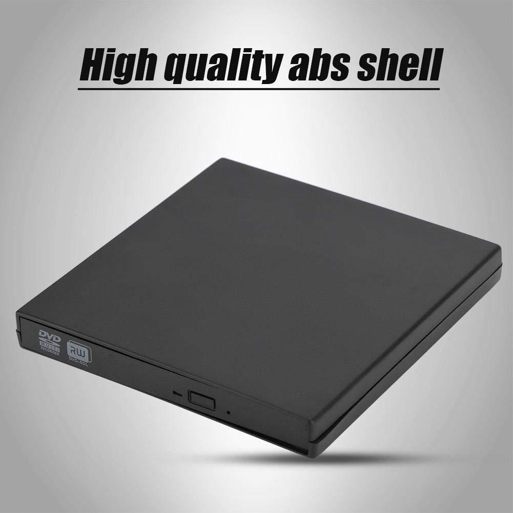 Vbestlife Unidad óptica Caja Externa Caja Disco Duro Externo Externo Lector de DVD Grosor de 12.7 mm y la Interfaz es de SATA a Prueba de Golpes