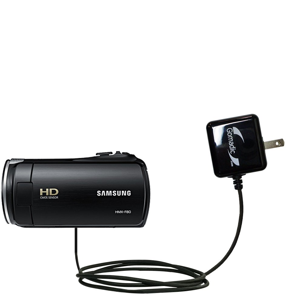 Gomadic High Output Home Wall AC Charger designed for the Samsung HMX F80 F90 with Power Sleep technology - Intelligently designed with Gomadic TipExchange