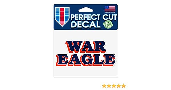 WAR Eagle Auburn WAR Eagle 4x5 Perfect Cut Decal
