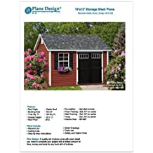 Deluxe Shed Plans 10' x 12' Reverse Gable Roof Style, Material List and Step By Step Included, Design # D1012G