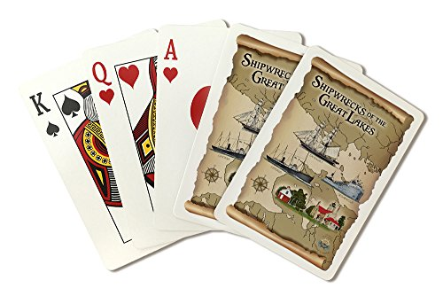 Shipwrecks of the Great Lakes (Playing Card Deck - 52 Card Poker Size with Jokers) by Lantern Press