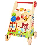 ZYN Baby Wooden Multifunction Learning Walking Trolley Walker Stable Non-Slip Baby Birthday Present