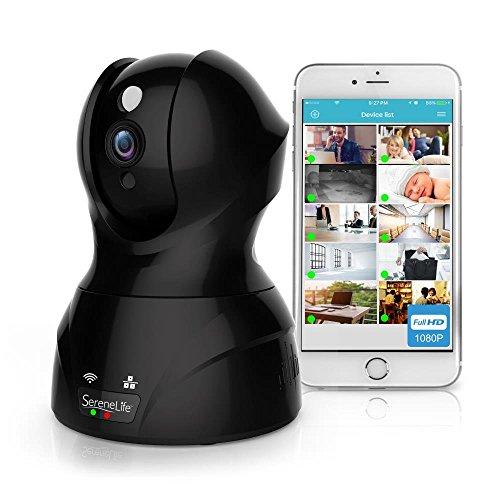 SereneLife Indoor Wireless IP Camera - HD 1080p Network Security