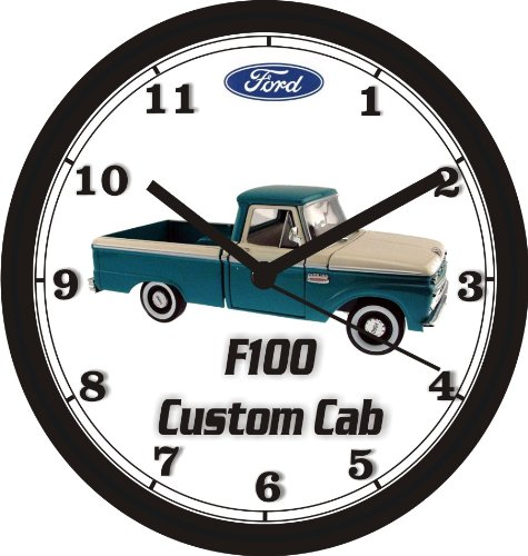 1965 FORD F100 CUSTOM CAB PICKUP TRUCK WALL CLOCK-Free USA Ship