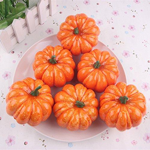 Missley Halloween Pumpkin 16 Pcs Artificial Pumpkin Mini Pumpkins Decoration For Halloween/Christmas/Wedding/Home Decoration by Missley (Image #8)
