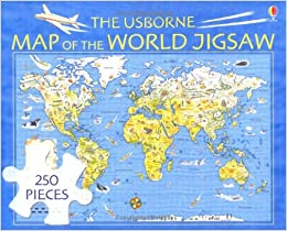 The usborne map of the world jigsaw usborne jigsaws amazon turn on 1 click ordering for this browser gumiabroncs Images