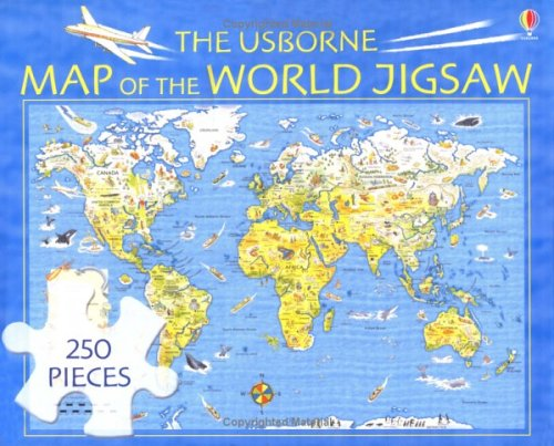 The usborne map of the world jigsaw usborne jigsaws amazon the usborne map of the world jigsaw usborne jigsaws amazon usborne publishing 9780746058251 books gumiabroncs Images
