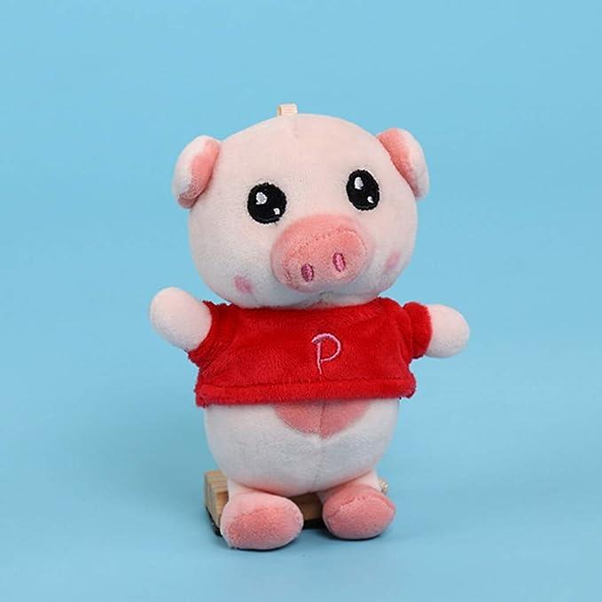 Amazon.com: Llavero de peluche con diseño de animal de cerdo ...