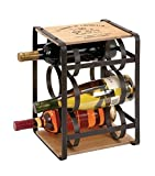 Deco 79 Metal Wood Wine Holder, 10 by 13-Inch