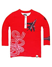 Mini Shatsu Fighter Jet Henley Baby Shirt