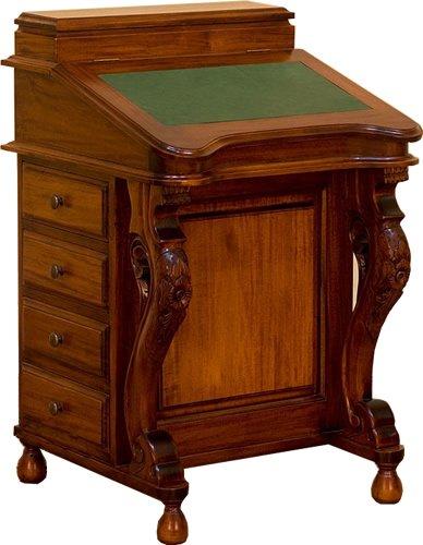 Antique Solid Mahogany Davenport Bureau Desk Good For Laptops