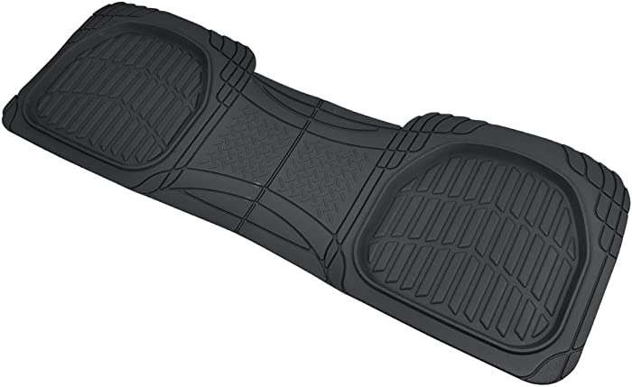 Motor Trend PRO920 Premium FlexTough Deep Dish Complementary Rear Rubber Floor Mats Liners All-Weather Protection Universal Design for Cars Sedan Truck SUV