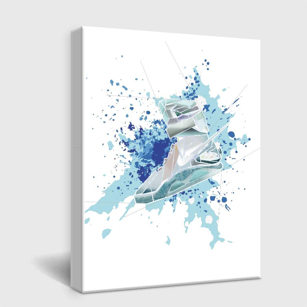 Gym Shoes Canvas Art Sports Themed Wall Art For Boys Room Wall Decor ,Gift for Boys, Son,Grandson, Nephew. 11.5