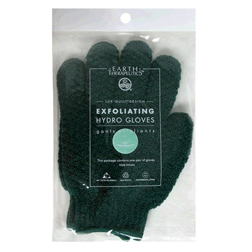 Earth Therapeutics Hydro Exfoliating Gloves, Green, 1 pair (Pack of 4) (Best Exfoliating Gloves Review)