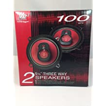 3 WAY SPEAKERS 100 WATTS @ 4 OHMS WITH BLACK SPEAKER GRILL