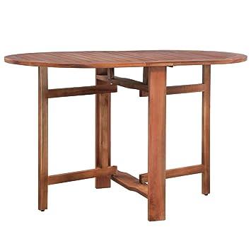 Festnight- Table de Jardin Pliable Ovale Table de Salle à ...