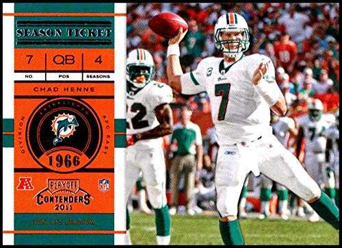 2011 Playoff Contenders Season Tickets #5 Chad Henne NM-MT Miami Dolphins Official NFL Football Card