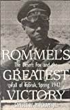 Front cover for the book Rommel's Greatest Victory by Samuel Mitcham