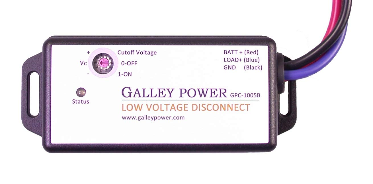 Galley Power LLC Low Voltage Battery Disconnect, 20A, 12V/24V Auto Detect by Galley Power LLC