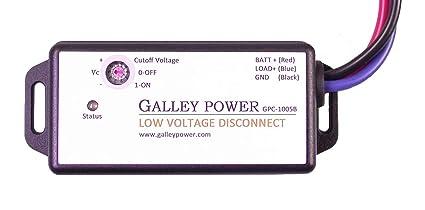 amazon com galley power llc low voltage battery disconnect, 20agalley power llc low voltage battery disconnect, 20a, 12v 24v auto detect