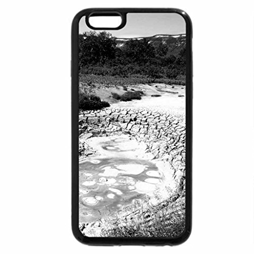 iPhone 6S Plus Case, iPhone 6 Plus Case (Black & White) - VALLEY of GEYSERS