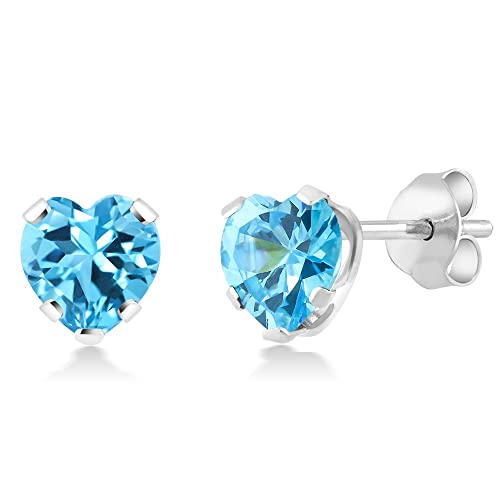 Image Unavailable. Image not available for. Color  925 Sterling Silver Blue  Zirconia CZ Stud Earrings ... 69ab639692