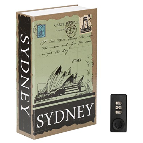 Diversion Book Safe with Combination Lock, Decaller Safe Secret Hidden Metal Lock Box, 9 1/2'' x 6'' x 1 1/3'', Sydney by Decaller
