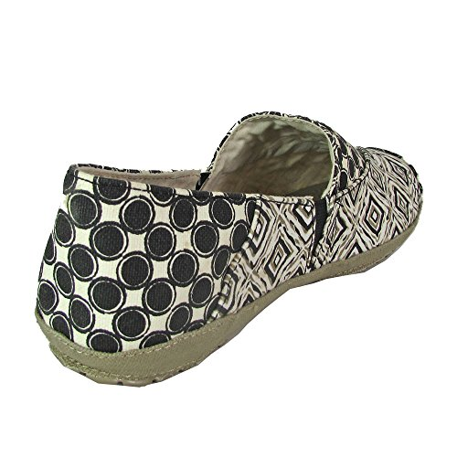Crocs Womens Angeline Graphic Loafer Slip on Shoes Black / Khaki QLrb5QQ
