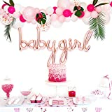 "Baby Shower Decorations for Girl | Baby Girl Shower Decorations | Baby Shower Balloons | Balloon Garland Kit | 11"" & 5"" Pink, White and Confetti Balloons 