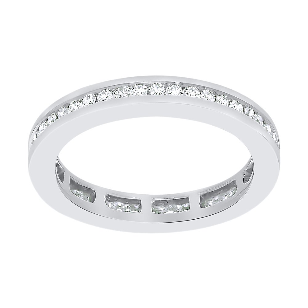 Diamond Eternity Band in Sterling Silver (1/2 cttw) (I-Color, SI3-I1 Clarity) (Size-12.5)