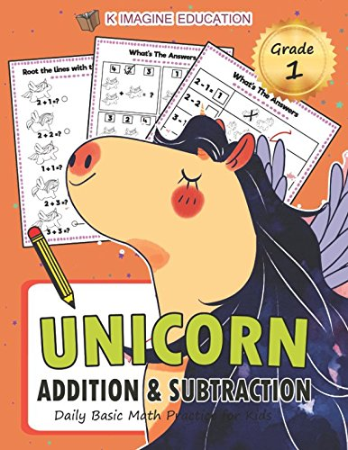 Download Unicorn Addition and Subtraction Grade 1: Daily Basic Math Practice for Kids (Daily Math Practice Workbook) pdf epub