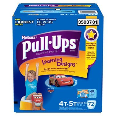 3 Wholesale Lots Huggies Pull-Ups Learning Designs 4T-5T 38-50lbs, 216 Pull-Ups Total by SSW Wholesalers
