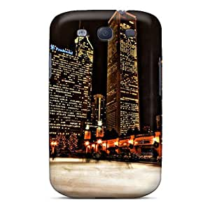 Michorton Wdnjj11063BSbTq Case For Galaxy S3 With Nice Ice Skating In Chicago Appearance