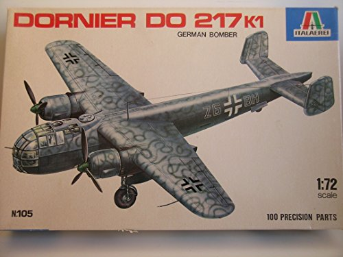 Italeri 1:72 Dornier Do 217k1 German Bomber Plastic Aircraft Model Kit ()