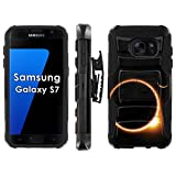 Samsung Galaxy S7 Phone Cover, Solar Eclipse- Blitz Hybrid Armor Phone Case for [Samsung Galaxy S7] with [Kickstand and Holster]